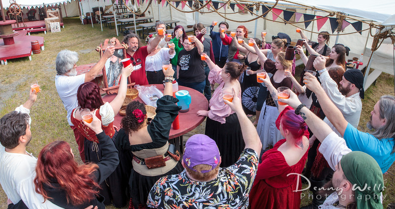 Tavern toast to Captain Redlegs before setting sail.