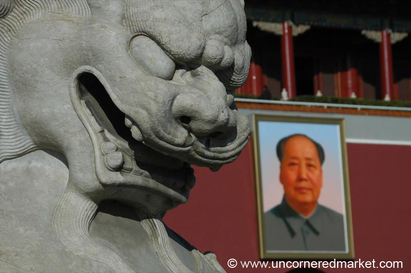 Tiananmen Square and Mao - Beijing, China