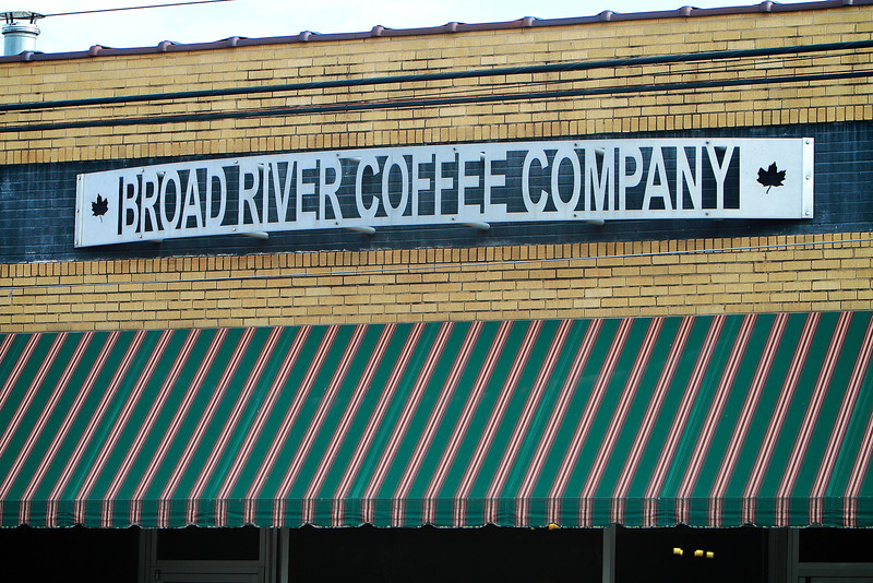 Photos of notable places in Boiling Springs and Shelby near Gardner-Webb University.  BRCC: Broad River Coffee Company