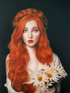 """Lilith"" (oil on canvas) by Simona Zecca"