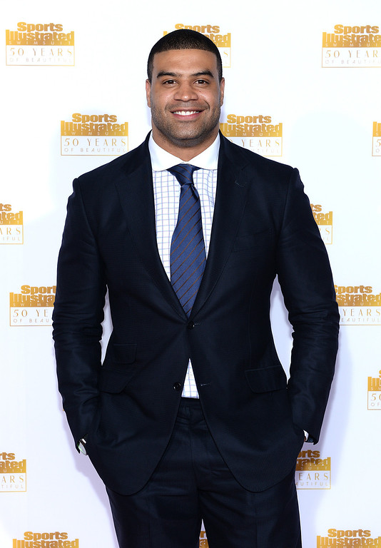 . Football player Shawne Merriman attends NBC and Time Inc. celebrate the 50th anniversary of the Sports Illustrated Swimsuit Issue at Dolby Theatre on January 14, 2014 in Hollywood, California.  (Photo by Dimitrios Kambouris/Getty Images)