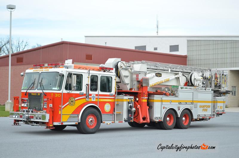 Hampden Township X-Truck 30: 1996 Spartan/Saulsbury 95' Aerialscope  (** replaced in 2015 **)