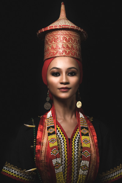 Ara in Bidayuh costume