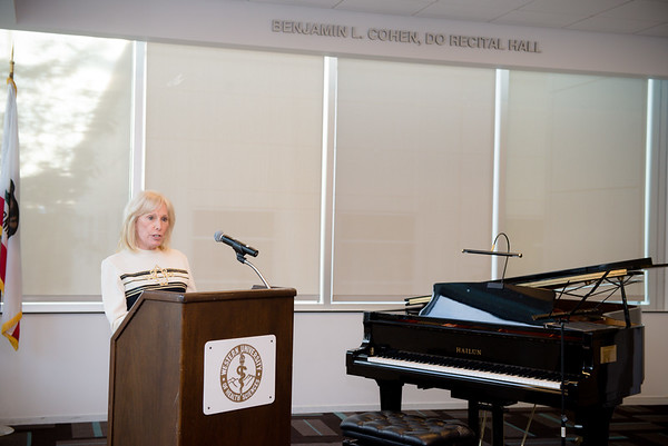 "Recital Hall dedication in honor of Benjamin L. Cohen, DO and an ""Evening of Music"""