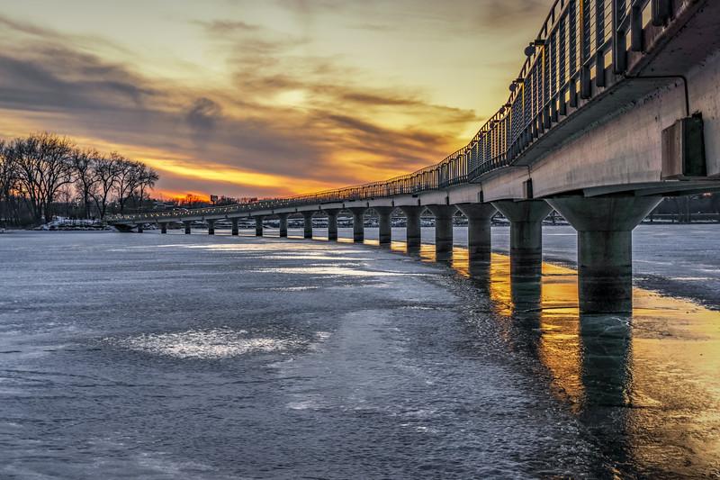 Gray's Lake at Sunset