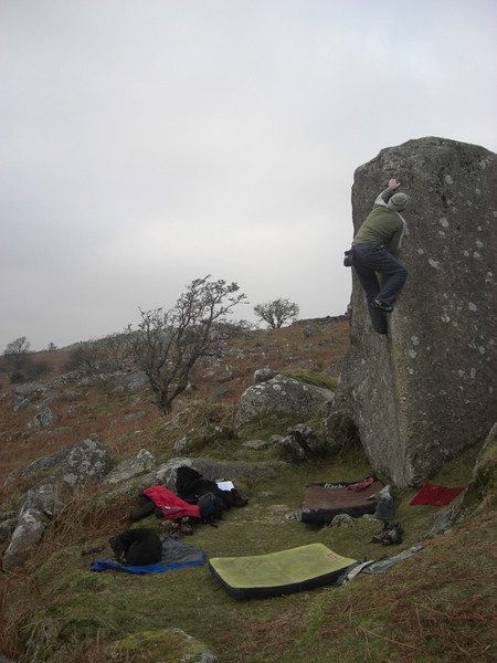Marc on Sharp Arete V2 - Combshead
