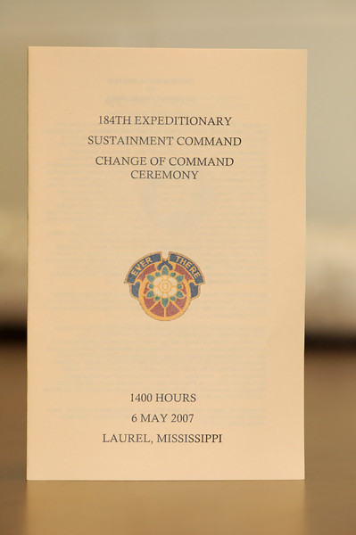 184th ESC Change of Command - May 6, 2007