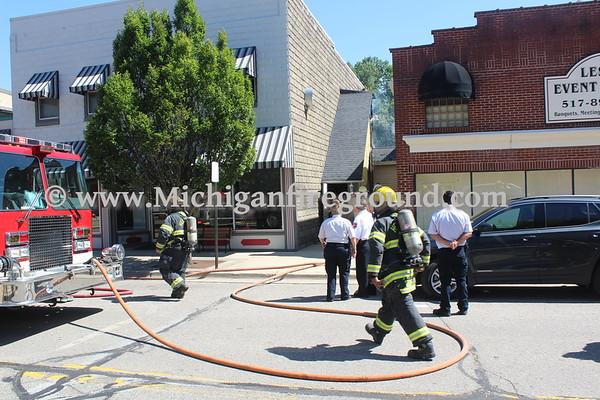 9/3/20 - Leslie commercial building fire, 165 S. Main