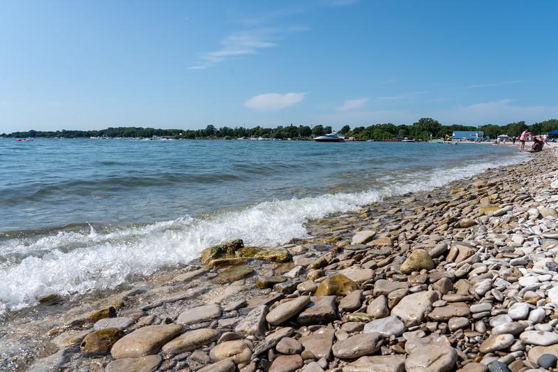 Rocky beach on Kelleys Island
