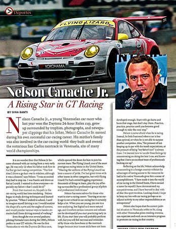 Nelson Canache: A Rising Star in GT Racing
