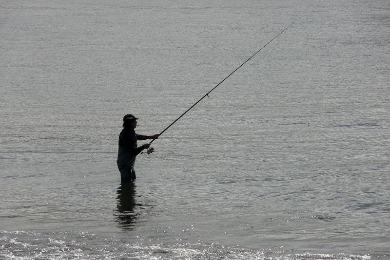 Fishing in Rio Tejo. Belém, Lisbon