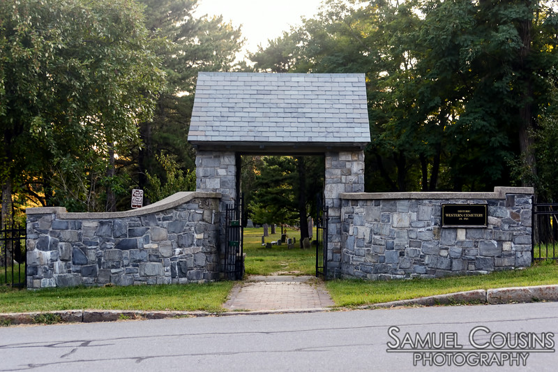 Entrance to Portland's Western Cemetery.