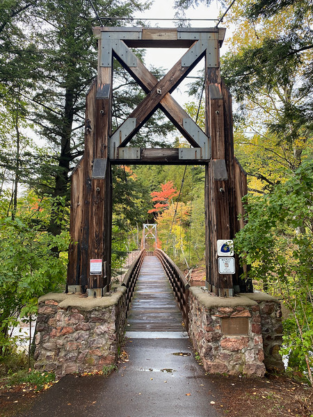 CCC Suspension Bridge at Black River
