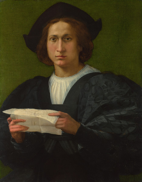 Portrait of a Young Man holding a Letter