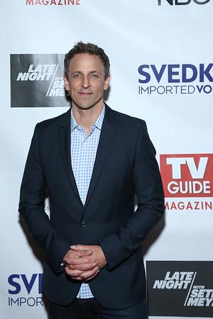 TV GUIDE MAGAZINE CELEBRATES NEW COVER STAR NBC'S SETH MEYERS-NY