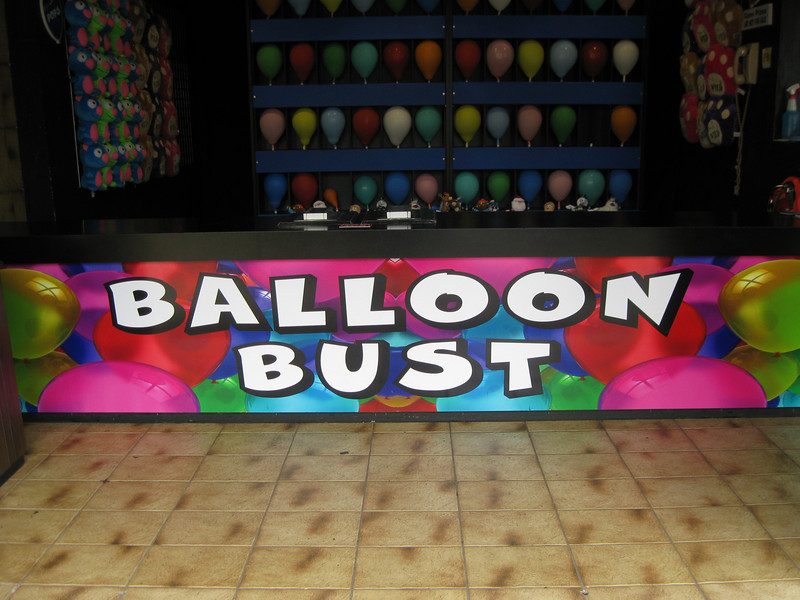 Balloon Bust stand.