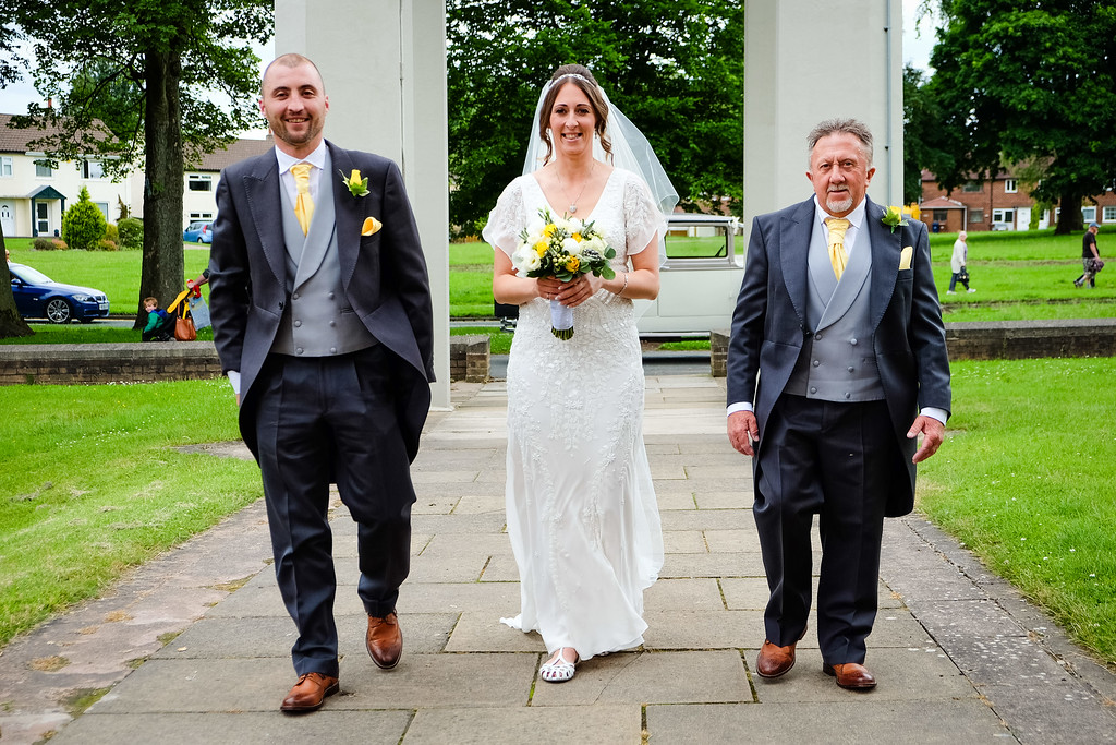 Bride with Father and Brother