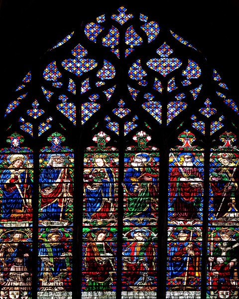 Troyes Saint Peter and Saint Paul Cathedral, The Virgin and Child with Saints Window