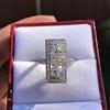2.40ctw Art Deco Old European Cut Diamond Geometric Dinner Ring 14