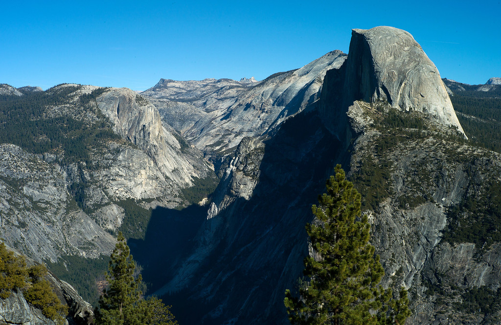 . Half Dome overview from Glacier Point in Yosemite The granite crest of the dome rises  more than 4,737 feet above the Valley floor. (Photo by Gloria Fogler-Mancini)