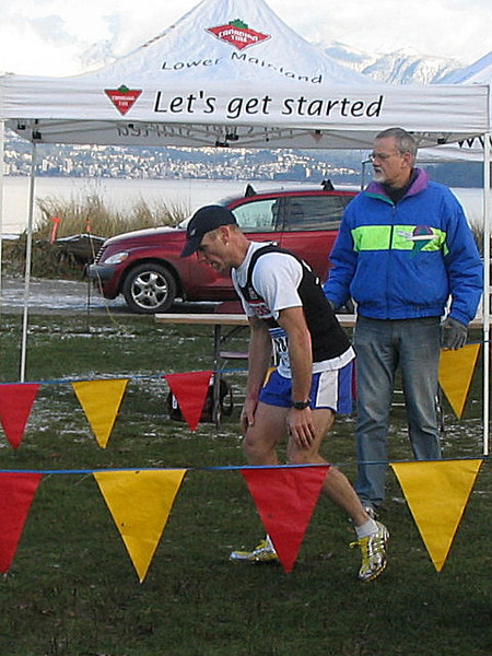2005 Canadian XC Championships - Healy spent after the race of his life