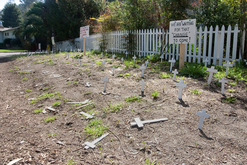 PACIFICA RESIDENT WITH FRONT YARD VANDALIZED