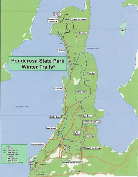 Ponderosa State Park (Winter Trail Map)