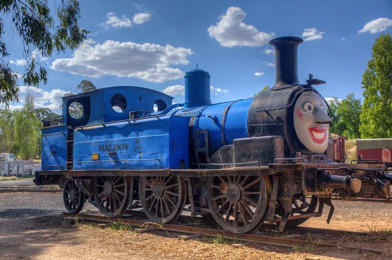 Thomas the Tank Engine lives in Maldon, South Australia.