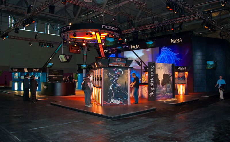 Aion booth on GamesCom