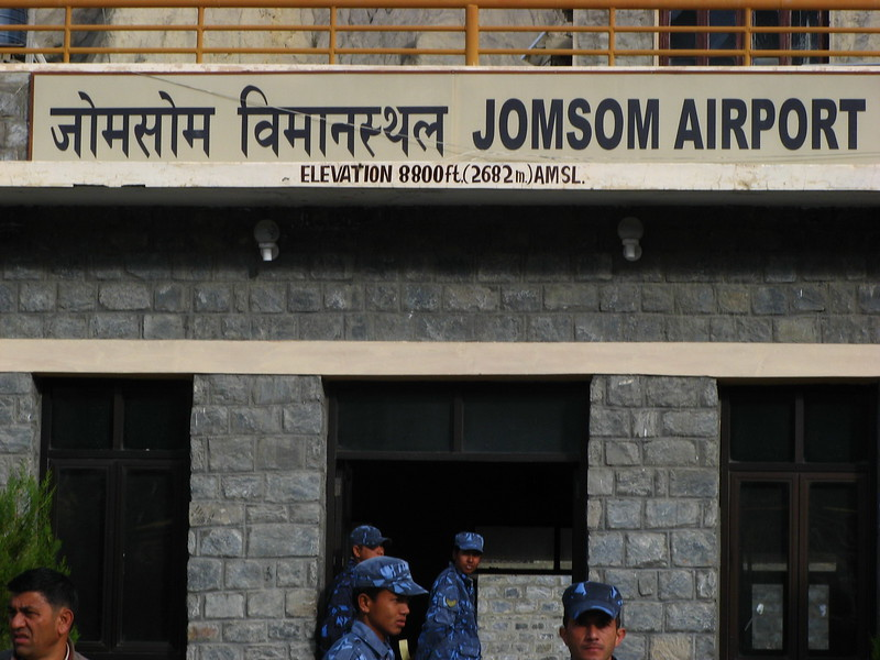 Arrival at Jomsom airport.