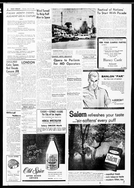 Daily Trojan, Vol. 52, No. 104, April 13, 1961
