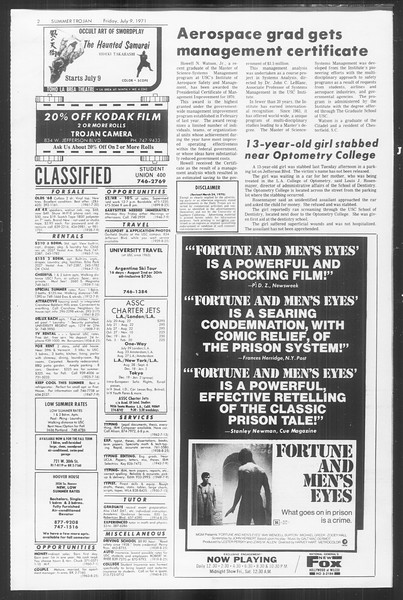 Summer Trojan, Vol. 63, No. 8, July 09, 1971