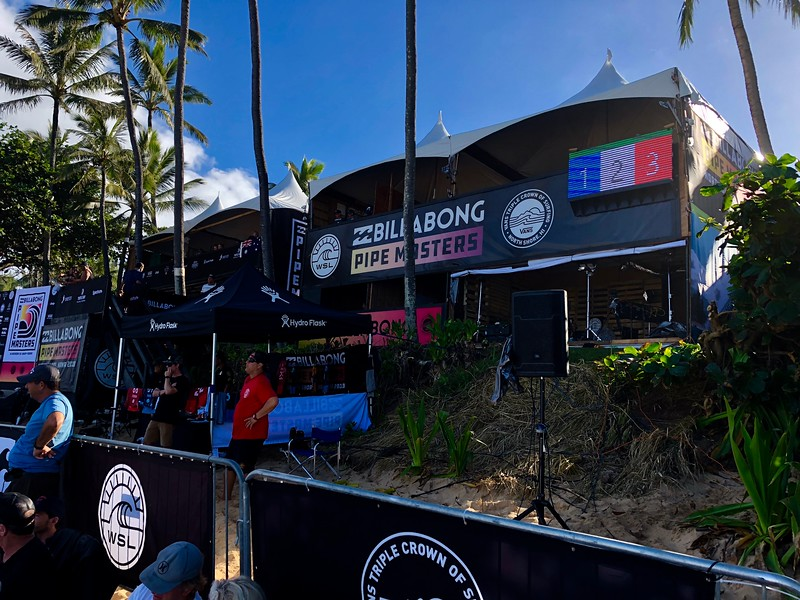 The 2018 Pipemaster's Announcers Booth