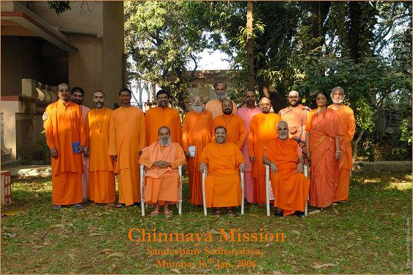 Chinmaya Mission meeting of Swamijis at Sandeepany, Jan'2006
