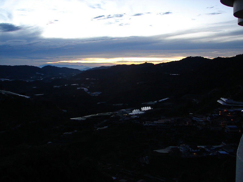 Sunrise over The cameron Highlands from our bedroom window (1).JPG