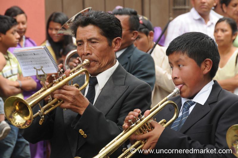 Semana Santa Musicians - Antigua, Guatemala