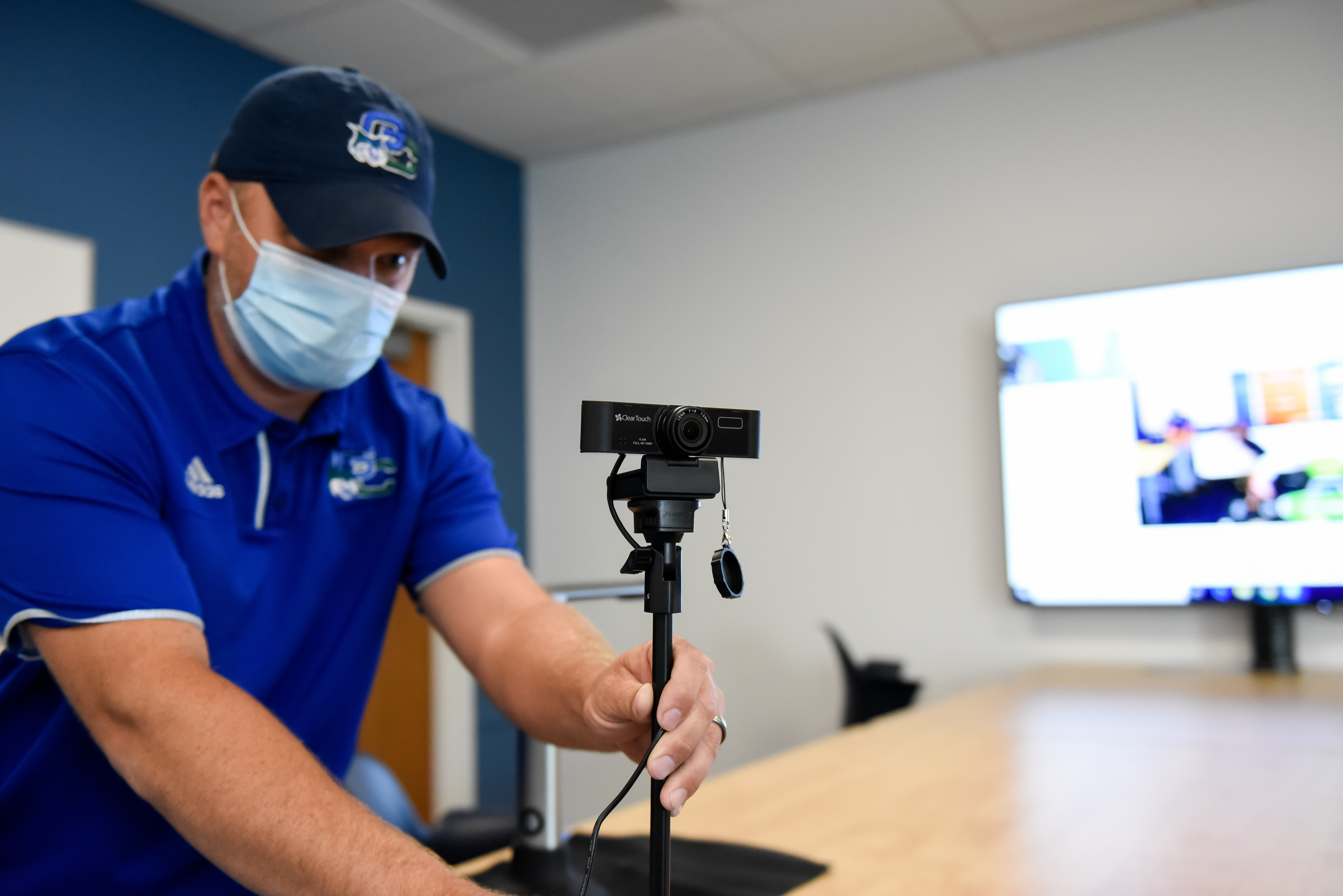 Technology has been added to classrooms for some hybrid delivery courses.
