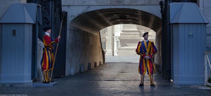 Rome - Swiss Guards in Vatican
