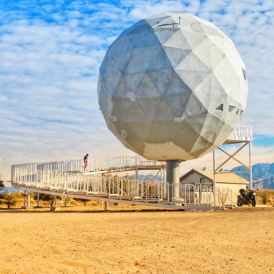 Area 66 Roadside Tourist Attraction - Yucca, Arizona - Geodesic Ball