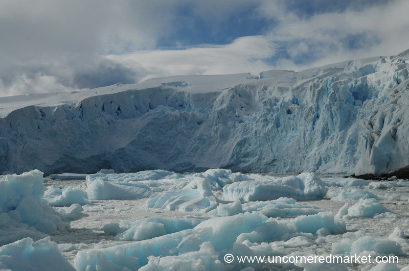 Blue Ice and Blue Skies - Antarctica