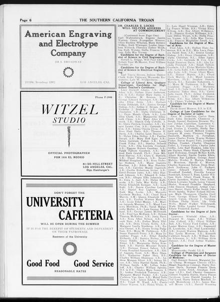 The Southern California Trojan, Vol. 7, No. 125, May 29, 1916