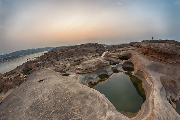 Sunrise at Samphan Bok, Ubon Ratchatani, Western Thailand