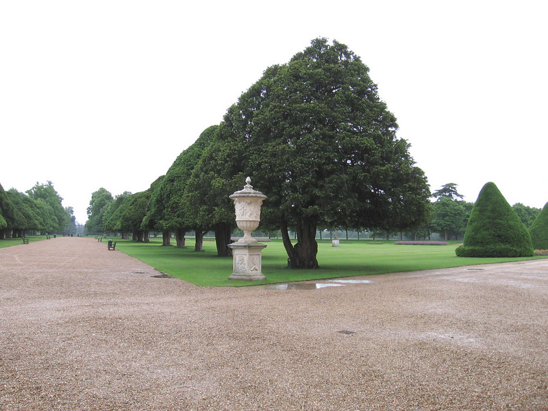 The garden at Hampton Court.