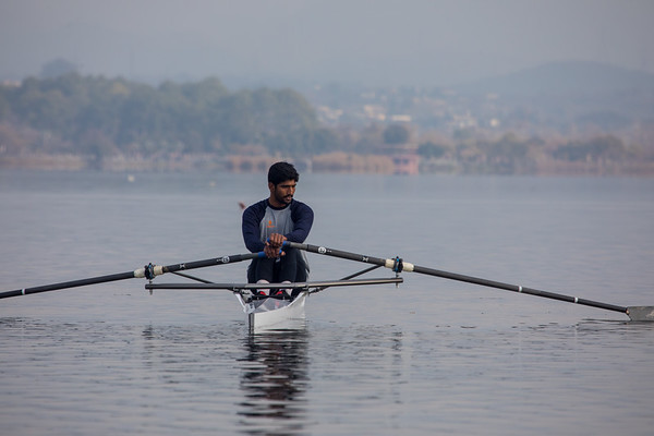 Training for Olympic Quaification Regatta