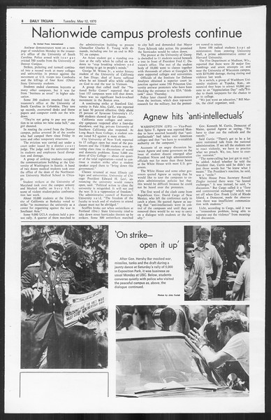 Daily Trojan, Vol. 61, No. 123, May 12, 1970