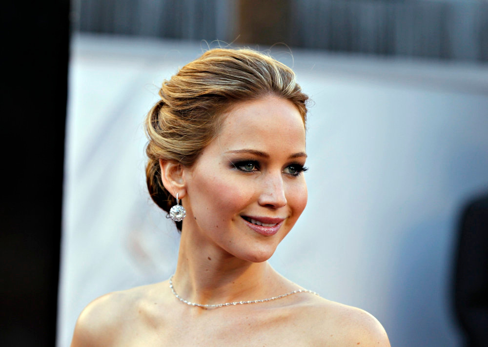 Description of . Actress Jennifer Lawrence, best actress nominee for her role in