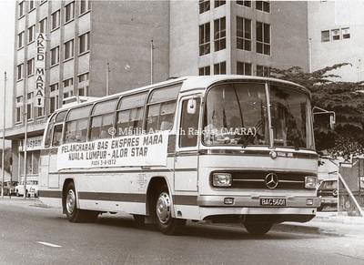 1972 - PELANCARAN BAS EKSPRESS MARA KUALA LUMPUR - ALOR SETAR