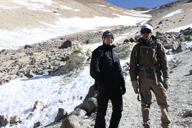 Gary and Alejandro (mountain guide)
