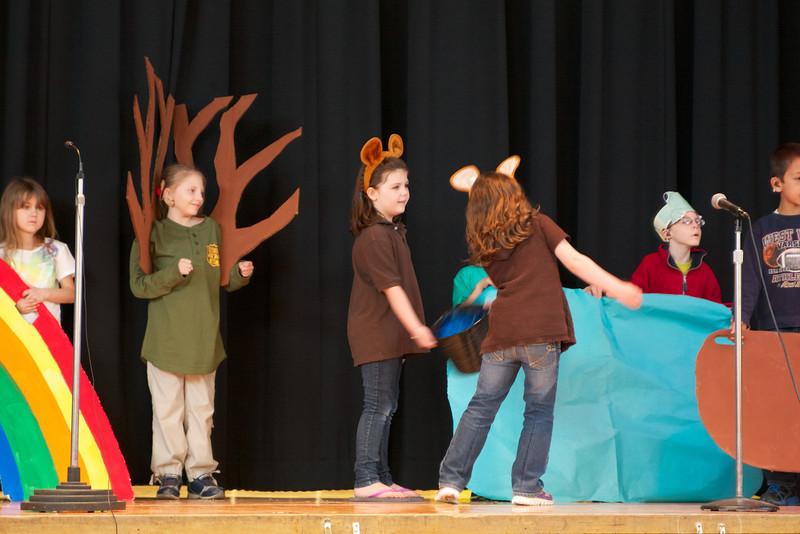 Ashley plays Bear in the play Skyfire