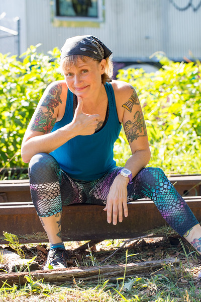 Barb Hayes is a tattooed musician and burlesque performer